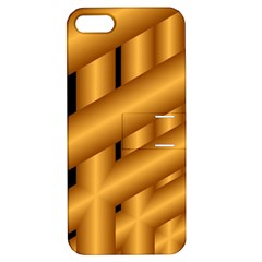 Fractal Background With Gold Pipes Apple Iphone 5 Hardshell Case With Stand by Simbadda