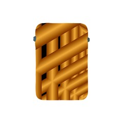 Fractal Background With Gold Pipes Apple Ipad Mini Protective Soft Cases by Simbadda