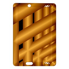 Fractal Background With Gold Pipes Amazon Kindle Fire Hd (2013) Hardshell Case by Simbadda
