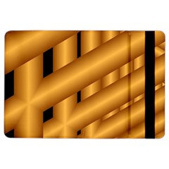 Fractal Background With Gold Pipes Ipad Air 2 Flip