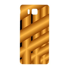 Fractal Background With Gold Pipes Samsung Galaxy Alpha Hardshell Back Case by Simbadda