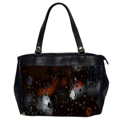 Lights And Drops While On The Road Office Handbags (2 Sides)  by Simbadda