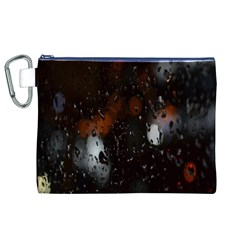 Lights And Drops While On The Road Canvas Cosmetic Bag (xl) by Simbadda