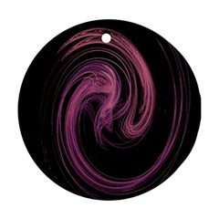 A Pink Purple Swirl Fractal And Flame Style Ornament (round) by Simbadda