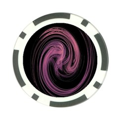 A Pink Purple Swirl Fractal And Flame Style Poker Chip Card Guard (10 Pack)