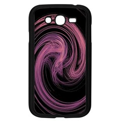 A Pink Purple Swirl Fractal And Flame Style Samsung Galaxy Grand Duos I9082 Case (black) by Simbadda