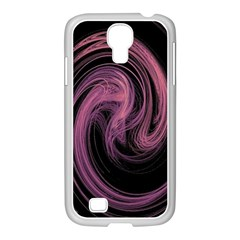 A Pink Purple Swirl Fractal And Flame Style Samsung Galaxy S4 I9500/ I9505 Case (white) by Simbadda
