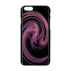 A Pink Purple Swirl Fractal And Flame Style Apple Iphone 6/6s Black Enamel Case by Simbadda