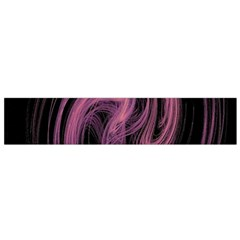 A Pink Purple Swirl Fractal And Flame Style Flano Scarf (small) by Simbadda