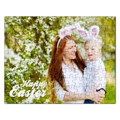 Happy Easter Family Bunny Jigsaw Puzzle (rectangle) by makeunique