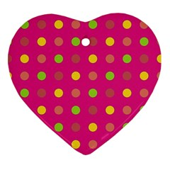 Polka Dots  Ornament (heart) by Valentinaart