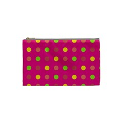 Polka Dots  Cosmetic Bag (small)  by Valentinaart