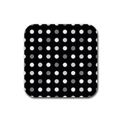 Polka Dots  Rubber Coaster (square)  by Valentinaart