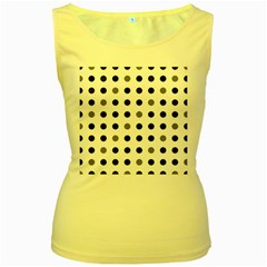 Polka dots  Women s Yellow Tank Top by Valentinaart