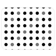 Polka Dots  Double Sided Flano Blanket (medium)  by Valentinaart