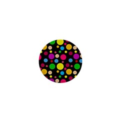 Polka Dots 1  Mini Magnets by Valentinaart