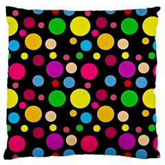 Polka Dots Large Cushion Case (two Sides) by Valentinaart
