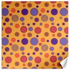 Polka Dots Canvas 16  X 16   by Valentinaart