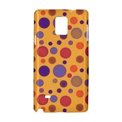 Polka Dots Samsung Galaxy Note 4 Hardshell Case by Valentinaart