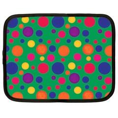 Polka Dots Netbook Case (xxl)  by Valentinaart