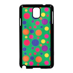Polka Dots Samsung Galaxy Note 3 Neo Hardshell Case (black) by Valentinaart