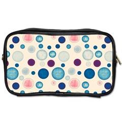 Polka Dots Toiletries Bags 2 Side by Valentinaart