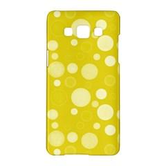 Polka Dots Samsung Galaxy A5 Hardshell Case  by Valentinaart