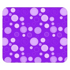 Polka Dots Double Sided Flano Blanket (small)  by Valentinaart