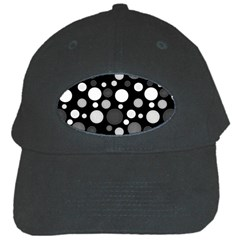 Polka Dots Black Cap by Valentinaart