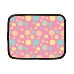 Polka Dots Netbook Case (small)  by Valentinaart
