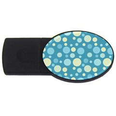Polka Dots Usb Flash Drive Oval (4 Gb) by Valentinaart