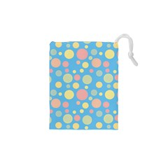 Polka Dots Drawstring Pouches (xs)  by Valentinaart