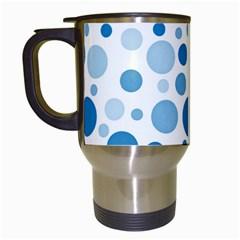 Polka Dots Travel Mugs (white) by Valentinaart