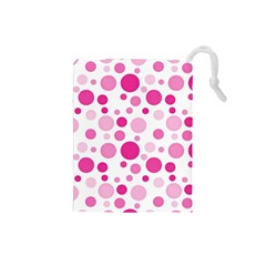 Polka Dots Drawstring Pouches (small)  by Valentinaart