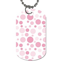 Polka Dots Dog Tag (two Sides) by Valentinaart