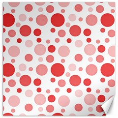 Polka Dots Canvas 16  X 16   by Valentinaart