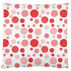 Polka Dots Standard Flano Cushion Case (two Sides) by Valentinaart