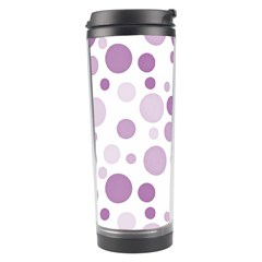 Polka Dots Travel Tumbler by Valentinaart