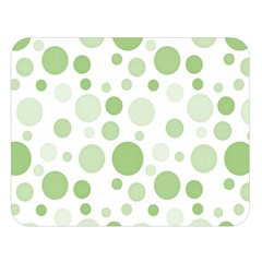 Polka Dots Double Sided Flano Blanket (large)  by Valentinaart