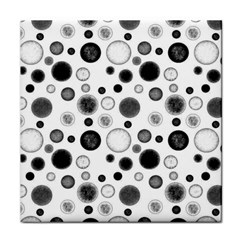 Polka Dots Face Towel by Valentinaart