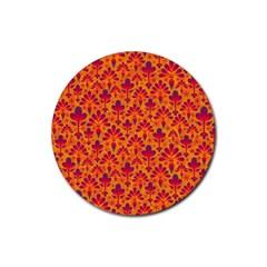 Pattern Rubber Coaster (round)  by Valentinaart