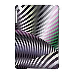 Fractal Zebra Pattern Apple Ipad Mini Hardshell Case (compatible With Smart Cover) by Simbadda