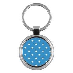 Stars Pattern Key Chains (round)  by Valentinaart