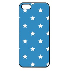 Stars Pattern Apple Iphone 5 Seamless Case (black) by Valentinaart