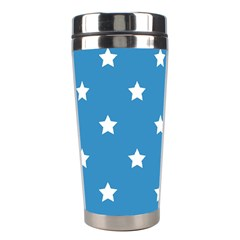 Stars Pattern Stainless Steel Travel Tumblers by Valentinaart