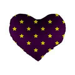 Stars Pattern Standard 16  Premium Heart Shape Cushions by Valentinaart