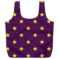 Stars Pattern Full Print Recycle Bags (l)  by Valentinaart