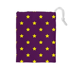 Stars Pattern Drawstring Pouches (large)  by Valentinaart