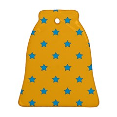 Stars Pattern Bell Ornament (two Sides) by Valentinaart