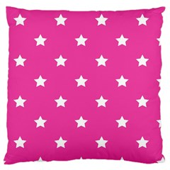 Stars Pattern Large Cushion Case (two Sides) by Valentinaart
